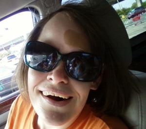 Nani in my sunglasses